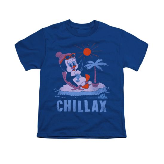 Chilly Willy Shirt Kids Chillax Royal Blue Youth Tee T-Shirt