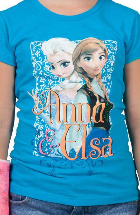 Snowflakes Anna and Elsa Shirt
