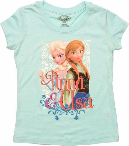 Frozen Anna Elsa Names Juvenile T Shirt