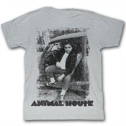 Animal House T-shirt Movie Bluto Car Adult Grey Tee Shirt