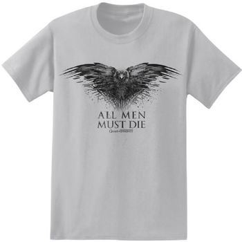 Game of Thrones All Men Must Die Adult Charcoal T-Shirt