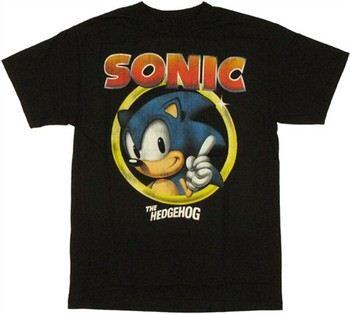 Sonic the Hedgehog Classic Face Logo T-Shirt