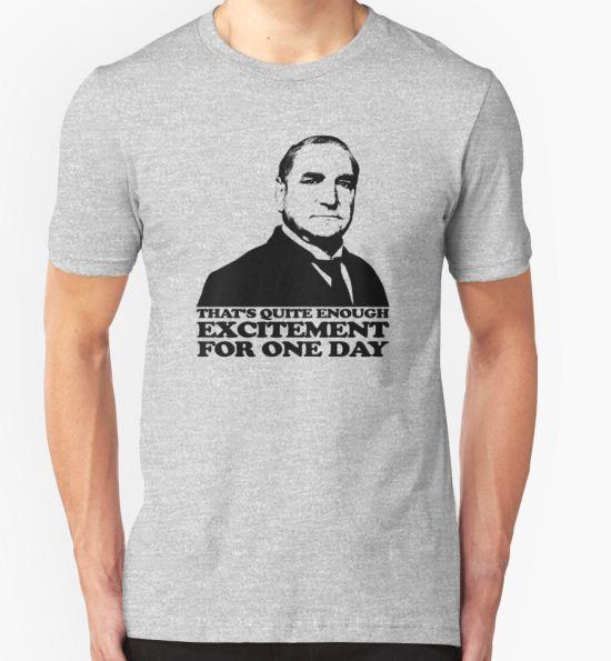'Downton Abbey Carson Excitement Tshirt' T-Shirt by theshirtnerd T-Shirt