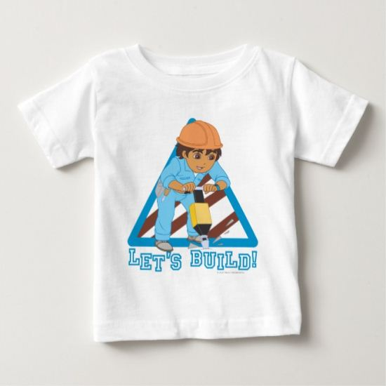 Go Diego Go! |  Let's Build Baby T-Shirt