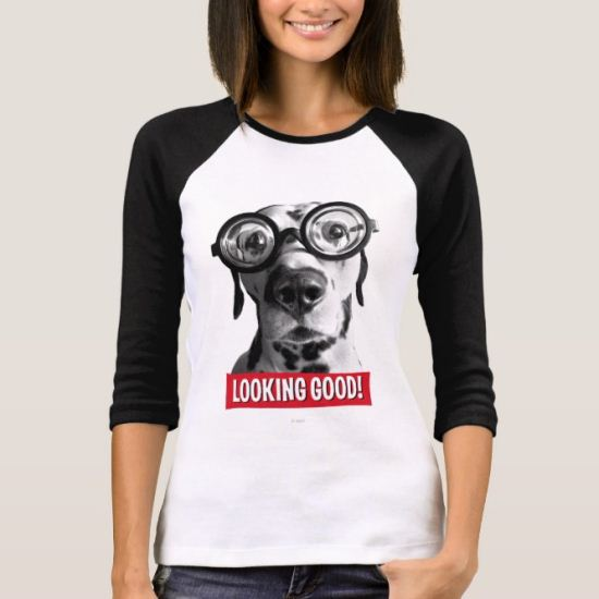 Funny Dalmatian Dog Wears Thick Glasses T-Shirt