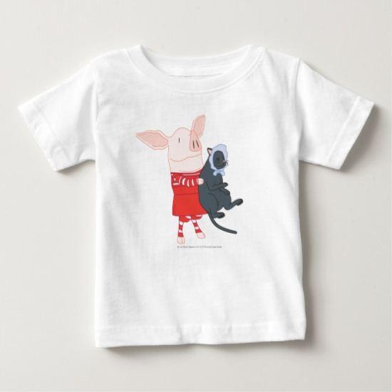 Olivia Holding Edwin the Cat Baby T-Shirt