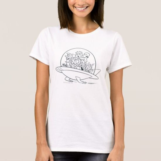 George Jetson Family In Astro Car 2 T-Shirt