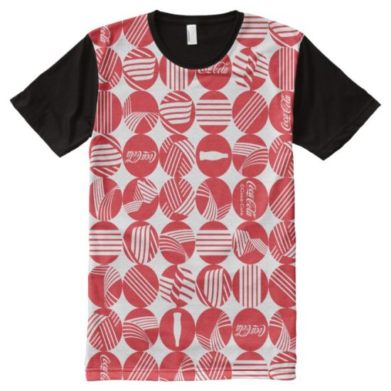 Coke On The Track Icons - Red & White All-Over Print Shirt