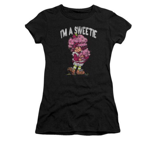 Strawberry Shortcake Shirt Juniors Sweetie Black Tee T-Shirt