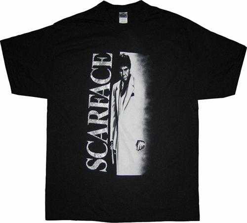 Scarface Movie Tony Montana Glitter Airbrush T-shirt