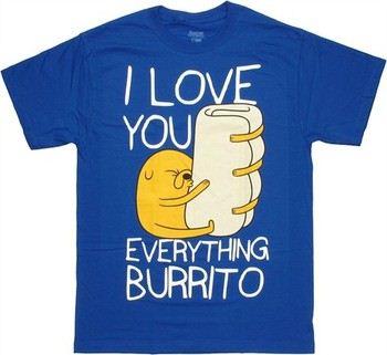 Adventure Time Jake I Love You Everything Burrito T-Shirt