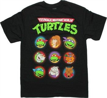 Teenage Mutant Ninja Turtles Nine Character Heads T-Shirt