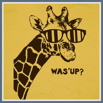 Giraffe T Shirt What's Up Was' Funny The Hangover Tee Shirt