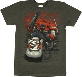 Transformers Optimus Prime Autobot Sneaker T-Shirt Sheer
