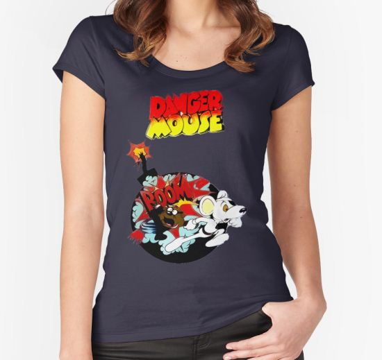 Danger Mouse Secret Women's Fitted Scoop T-Shirt by CircleEight T-Shirt