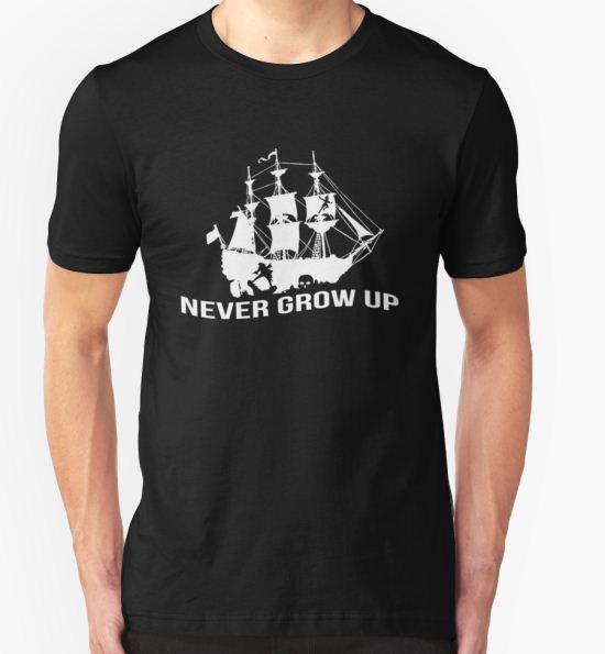 Peter Pan - Never grow up T-Shirt by Saraelle T-Shirt