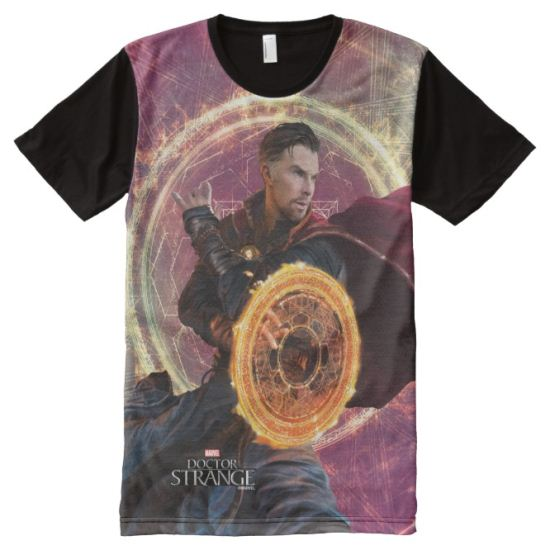 Doctor Strange Blocking With Mandala of Light All-Over Print T-shirt