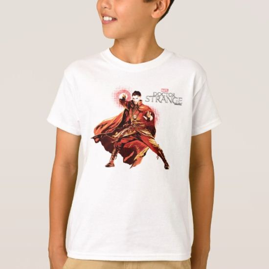 Doctor Strange Red Monochromatic Character Art T-Shirt
