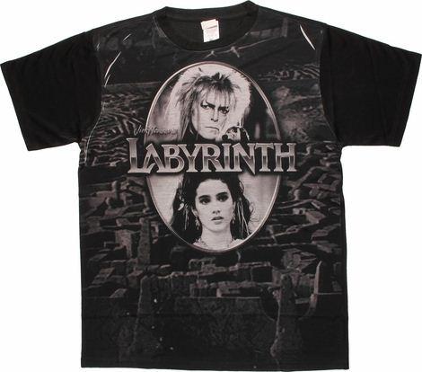 Labyrinth Maze Oval Frame Sublimated T Shirt Sheer
