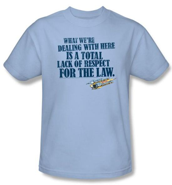 Smokey And The Bandit T-shirt Lack Of Respect Adult Light Blue Shirt