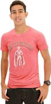 Flash Gordon Ming the Merciless Faded Red Heather Adult T-shirt