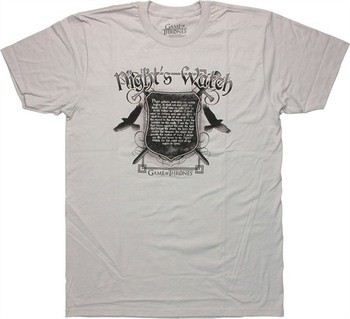 Game of Thrones Night's Watch Oath T-Shirt Sheer