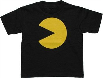 Pacman Alone Black Toddler T-Shirt
