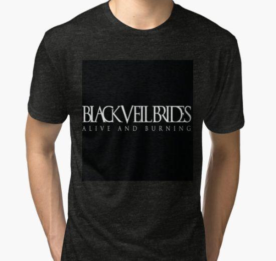 Black Veil Brides Tri-blend T-Shirt by dferr18 T-Shirt