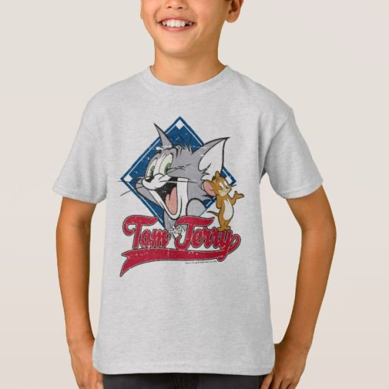 Tom And Jerry | Tom And Jerry On Baseball Diamond T-Shirt