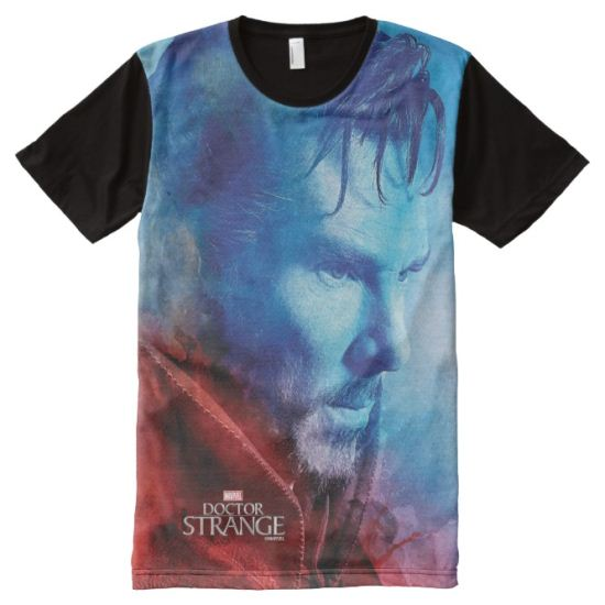 Kaecilius And Doctor Strange Watercolor Graphic All-Over Print Shirt