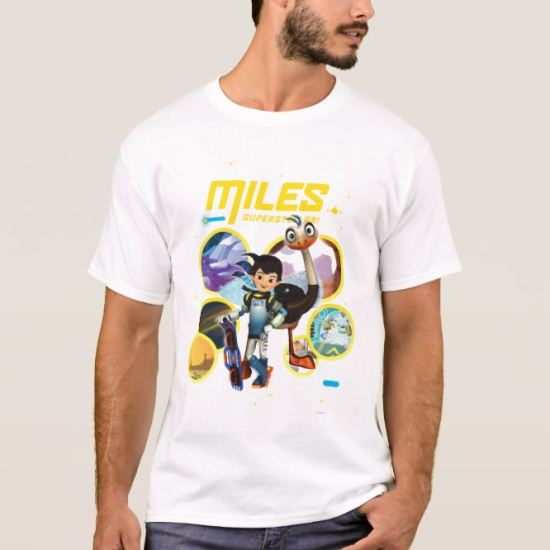Miles Superstellar & MERC Robotic Sidekick T-Shirt