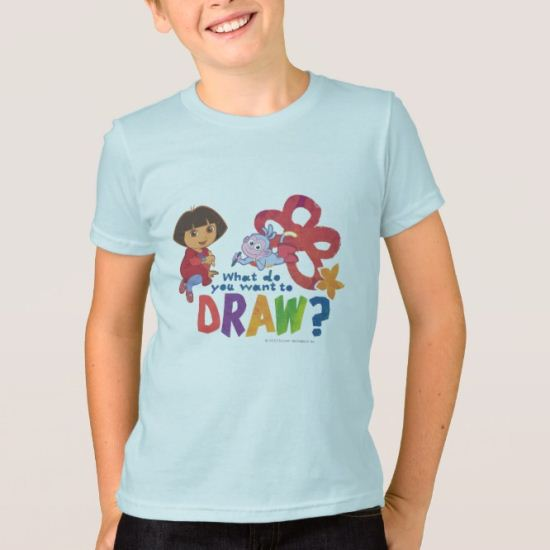 Dora The Explorer | What Do You Want To Draw? T-Shirt