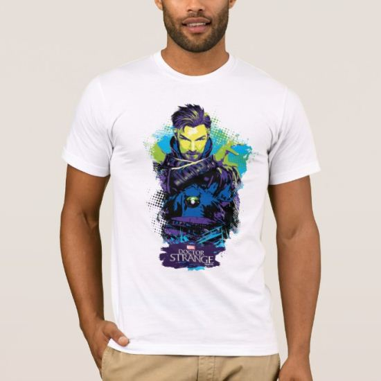 Doctor Strange Neon Paint Graphic T-Shirt