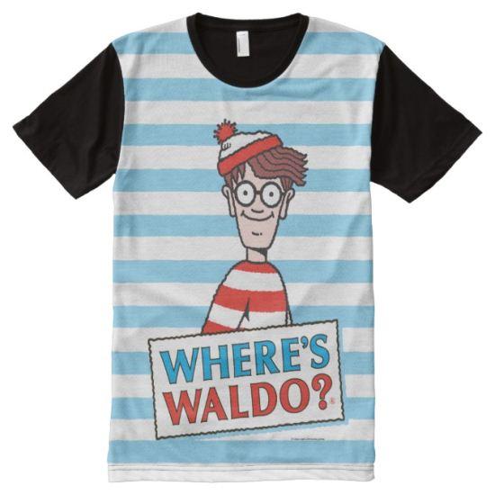 Where's Waldo Logo All-Over Print T-shirt