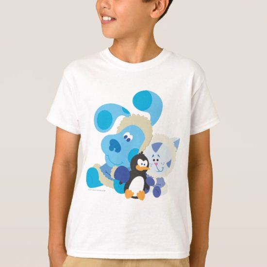 Blue's Clue - Blue, Periwinkle, and Penguin T-Shirt