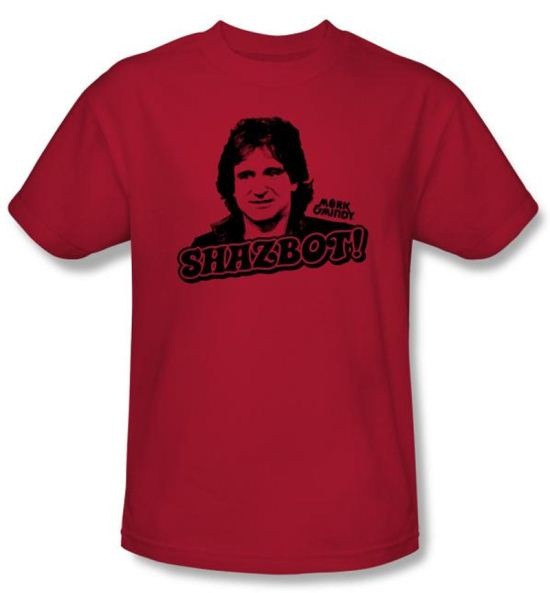 Mork and Mindy Kids Shirt Shazbot Youth Red T-Shirt