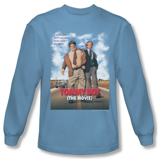 Tommy Boy Shirt Movie Poster Long Sleeve Carolina Blue Tee T-Shirt