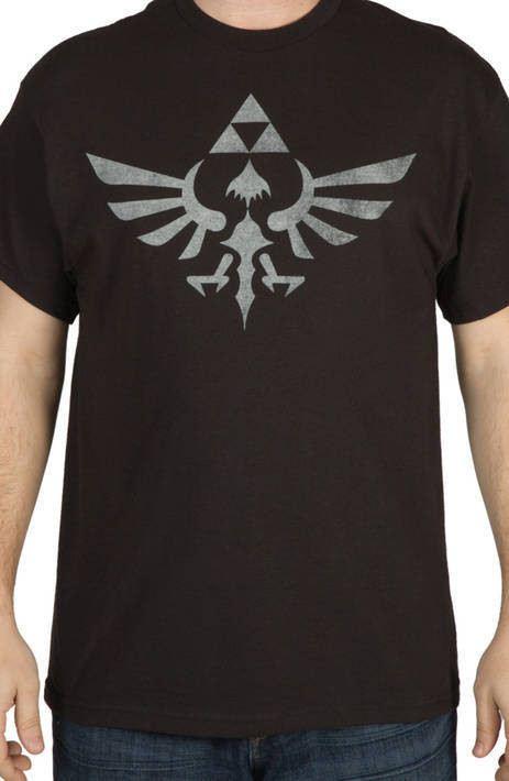 Distressed Zelda Tri-Force Shirt