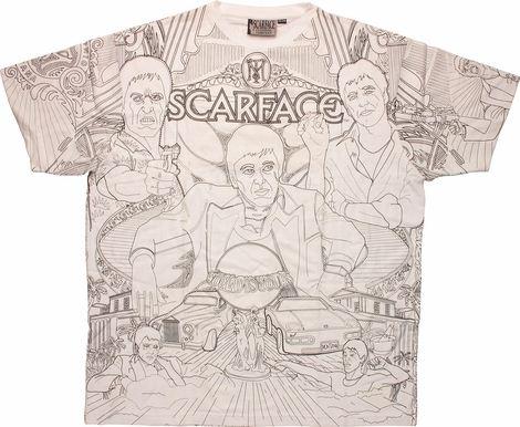 Scarface Mono White T-Shirt