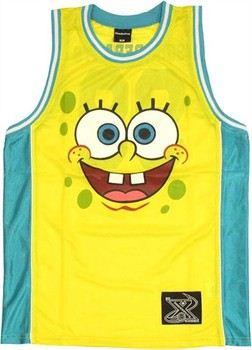 Spongebob Squarepants Face Basketball Jersey