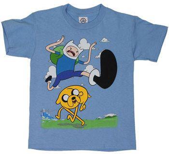 Jump Kick - Adventure Time Youth T-shirt