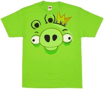 Angry Birds King Pig Face T-Shirt