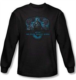 Batman Shirt Dark Knight Rises Gothams Dark Knight Black Long Sleeve