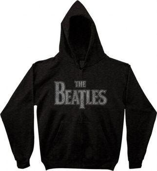 The Beatles Vintage Logo Zip Up Charcoal Adult Sweatshirt Hoodie