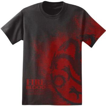 Game of Thrones Fire and Blood Targaryen Adult Black T-Shirt