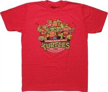 Teenage Mutant Ninja Turtles Group 1984 T-Shirt Sheer