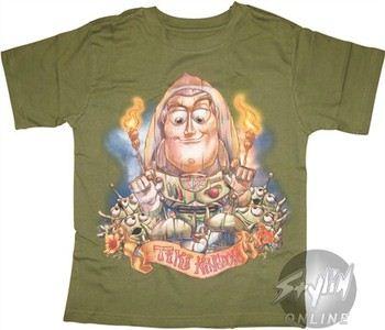 Disney Toy Story Buzz Lightyear Tiki Kindom Youth T-Shirt
