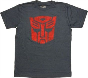 Transformers Autobot Logo Stencil T-Shirt Sheer