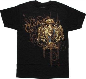 World of Warcraft Alliance Swords by Blizzard T-Shirt