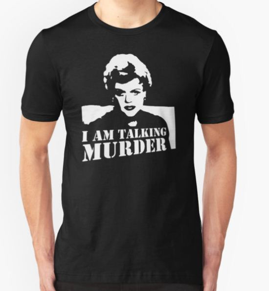 stencil Murder She Wrote Deadly Lady T-Shirt by mangz4ii T-Shirt
